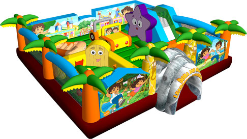 DORA & DIEGO 5 IN 1 COMBO jumping castle