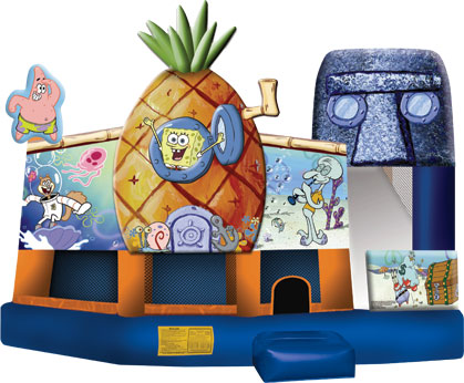 SPONGE BOB SQUARE PANTS 3D 5 IN 1 COMBO jumping castle